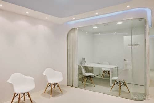 Modern dental office interior design by ylab arquitectos for Dental office interior design