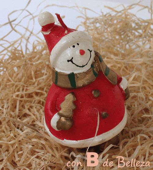 Vela decorativa muñeco de nieve