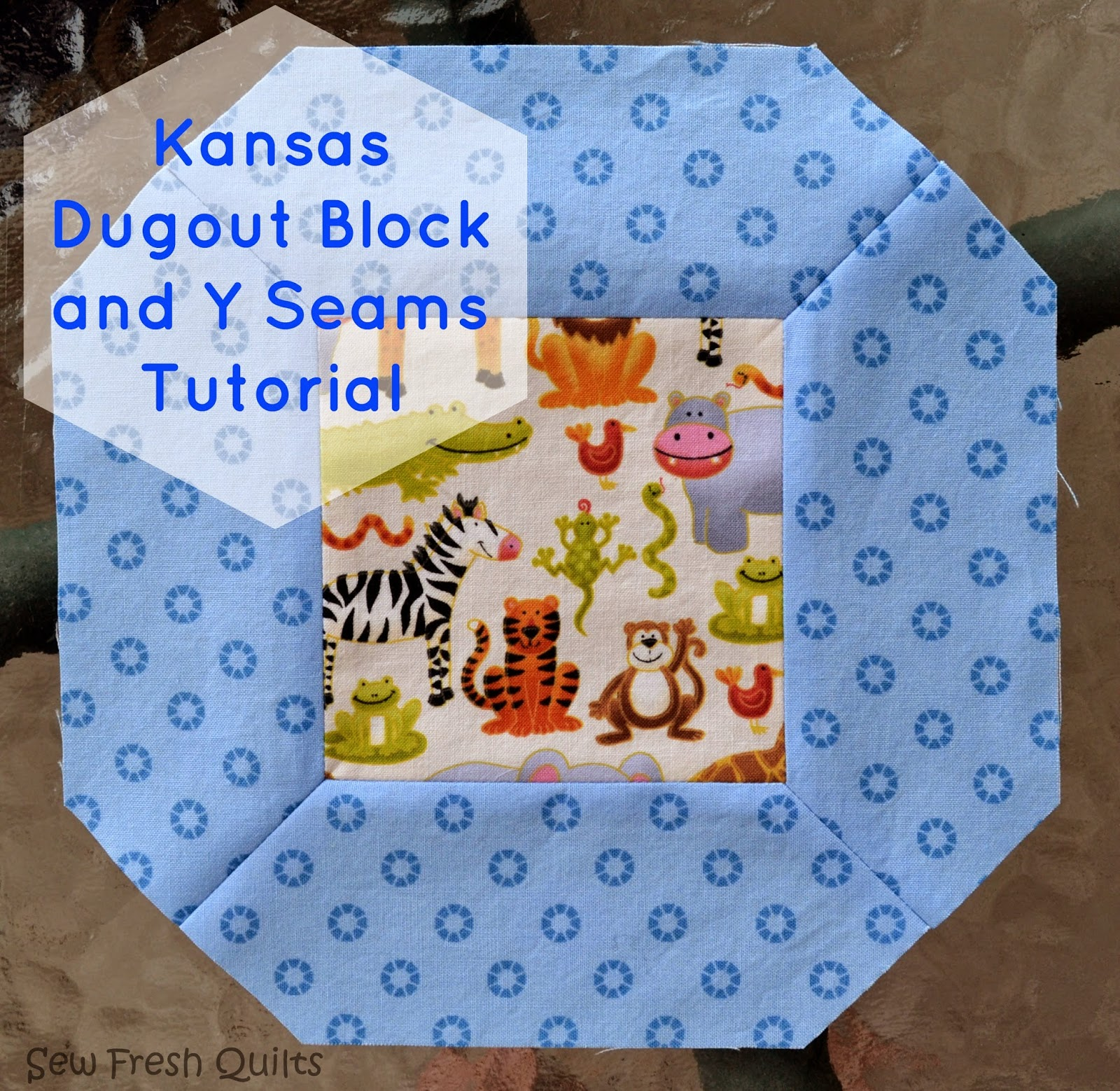 Kansas Dugout Block and Y Seams tutorial