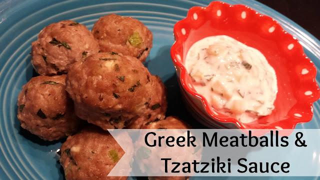 Greek Meatballs and Tzatziki Sauce