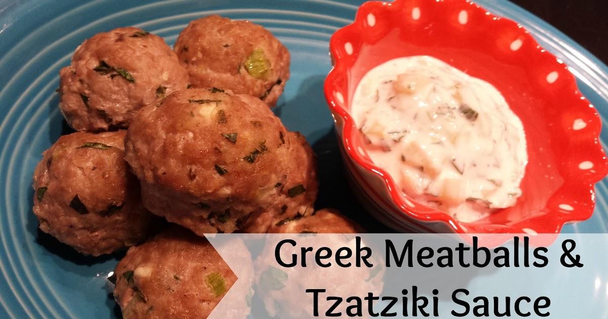 it's like a potato...: Greek Meatballs and Tzatziki Sauce