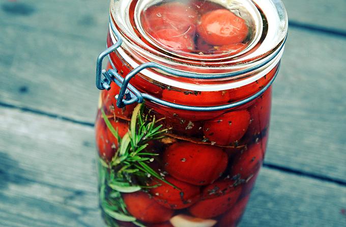 Inlagda tomater