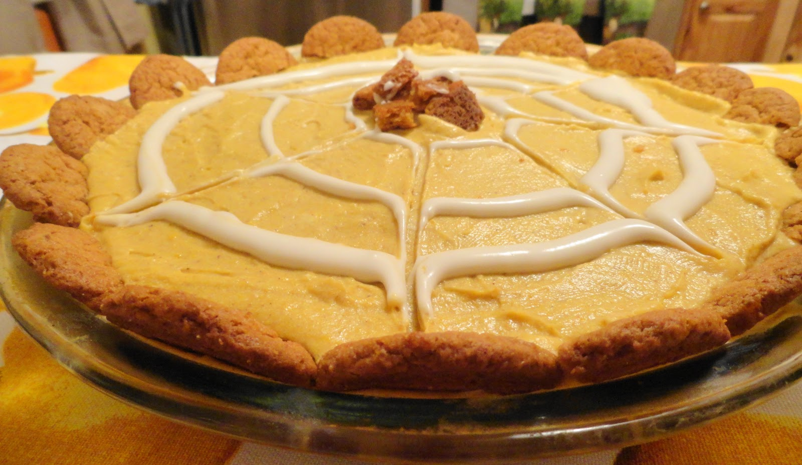 Pumpkin Cream Cheese Pie with Gingersnap Cookie Crust ...