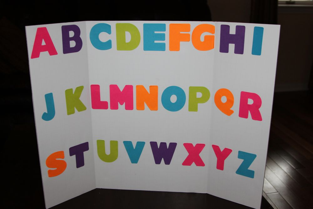 Kindergarten sight words october 2011 for Posterboard letters