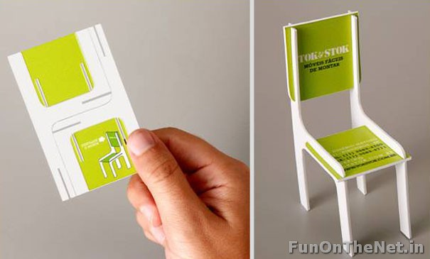 Blog fuad informasi dikongsi bersama top 10 most creative designed by tok stok to showcase their easy to assemble furniture this business card can be converted into a little chair the back of the card has the reheart Image collections