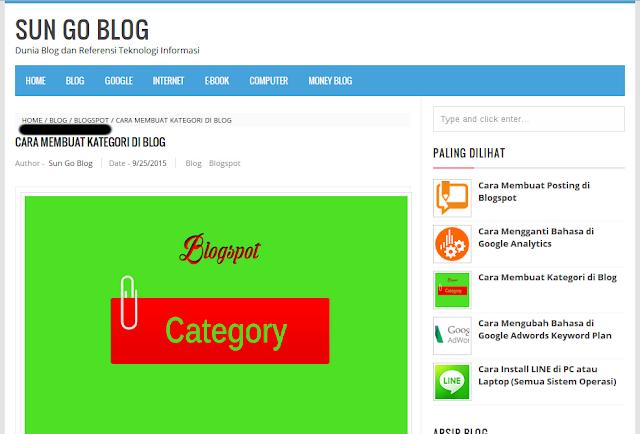 Mengisi Menu Blog Dengan Link Posting
