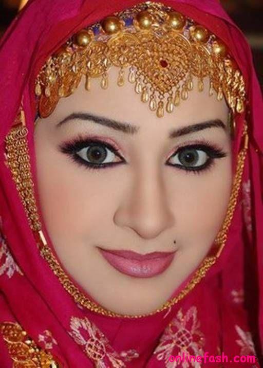 Hijab styles 2011  Bridal Makeup