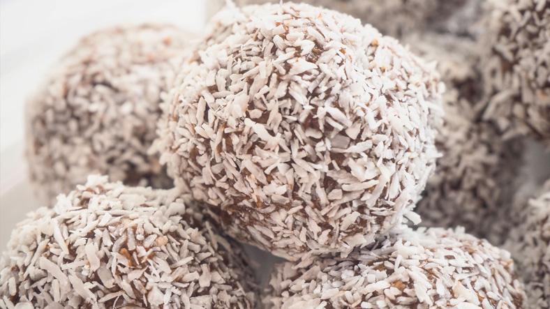 Boules chocolat et noix de coco, boules au chocolat, boules noix de coco, recette noix de coco, recette chocolat, pâtisserie, recettes faciles, étape par étape, idée petit déjeuner, idée goûter