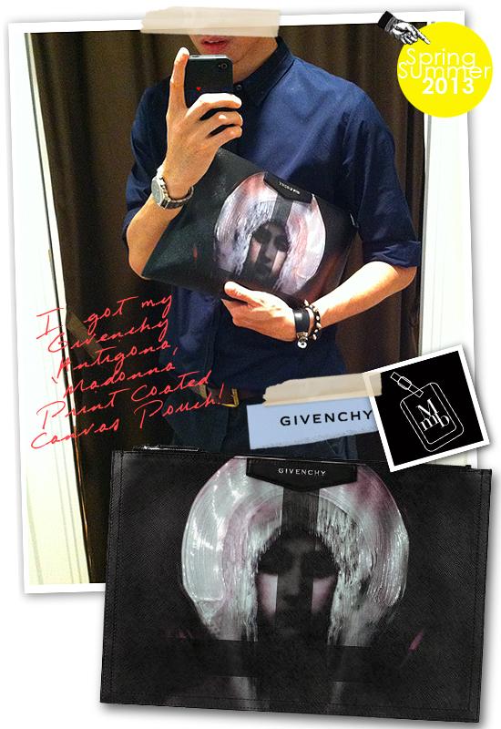 c137fabeb2e0 Givenchy Antigona Large  Madonna  Print Pouch