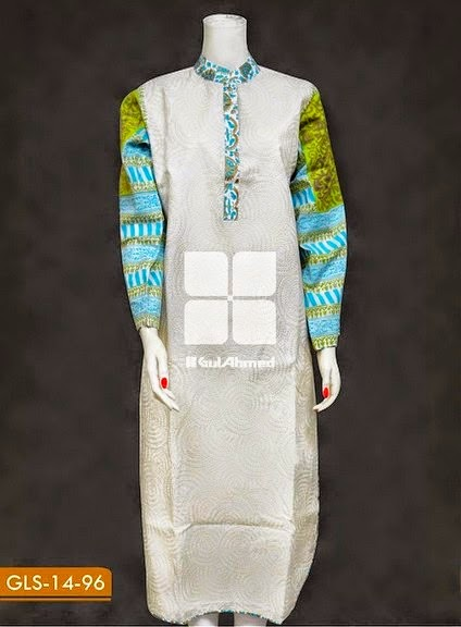 Gul Ahmed Embroidered Kurta's 2014