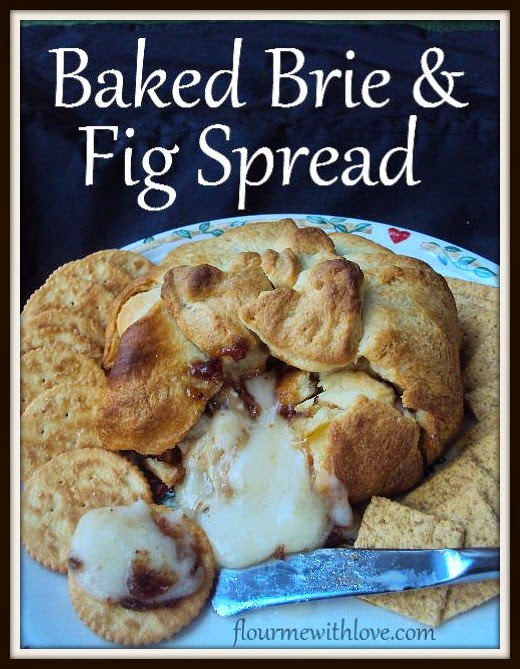 Baked Brie & Fig Spread; flourmewithlove.com