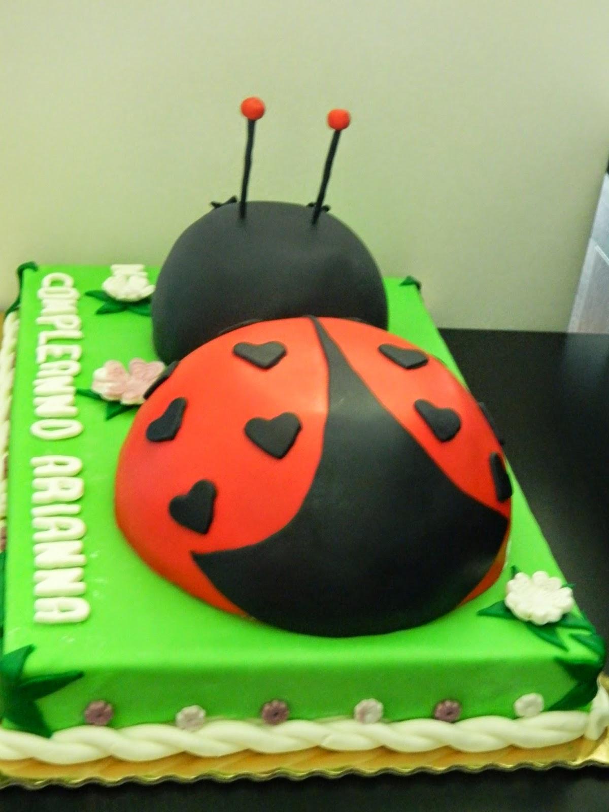 In cucina con vanna torta di compleanno a forma di coccinella for Isola cucina a forma di torta
