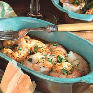 baked shrimp, dinner, lemon, garlic, yummy, easy, Sara Stakeley,