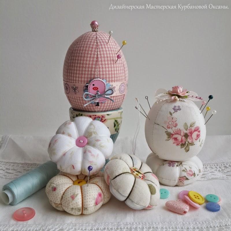 купить подарок игольница текстильная яйцо ручная работа
