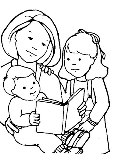 Maestra erika valecillo dibujos d as de las madres for Read and share bible coloring pages