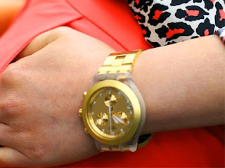 Gold Bloodless Swatch Watch
