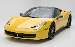 Yellow Ferrari 458 HD