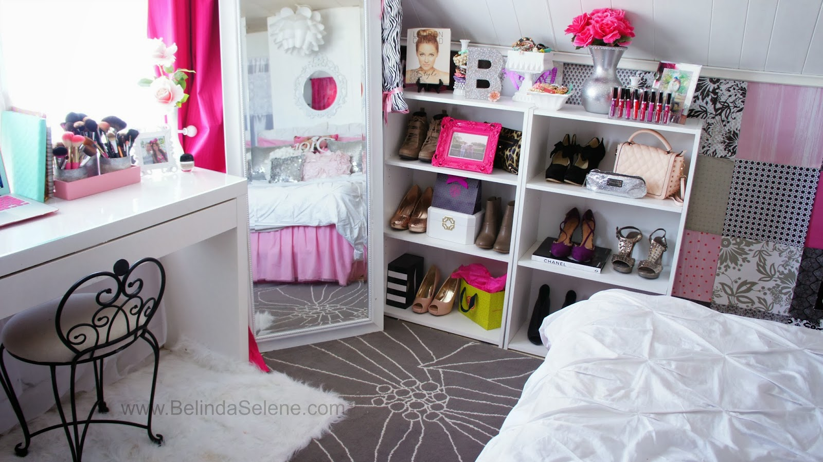 Belindaselene modern shabby chic room tour for Make your room