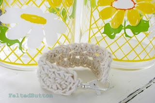 Trek Bracelet Free Crochet Pattern by Susan Carlson of Felted Button