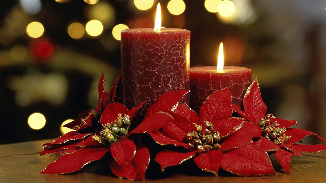 Free Download Christmas Candle lights HD Wallpapers for iPhone 5 ...