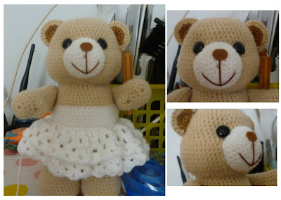 Amigurumi Crochet wedding bear animal cute pattern idea gift