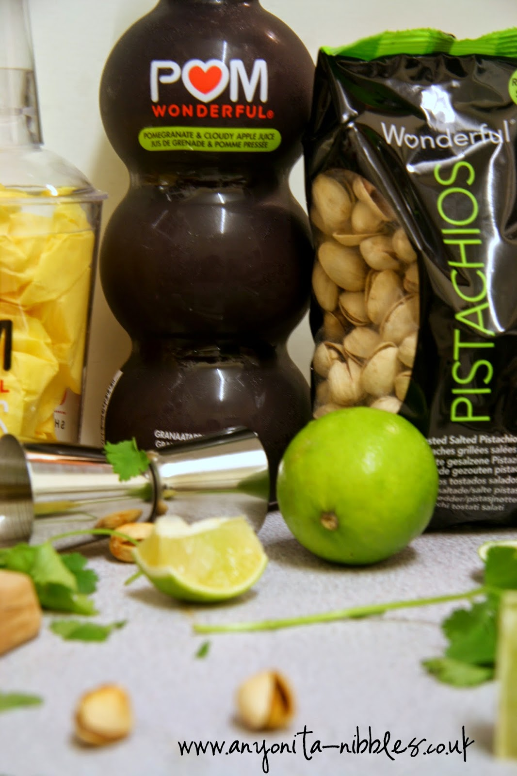 Pomengranates & Pistachios--a match made in heaven! From Anyonita Nibbles