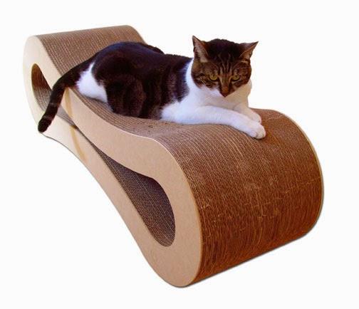 Chaise Longue en Carton Recyclable pour  Chats