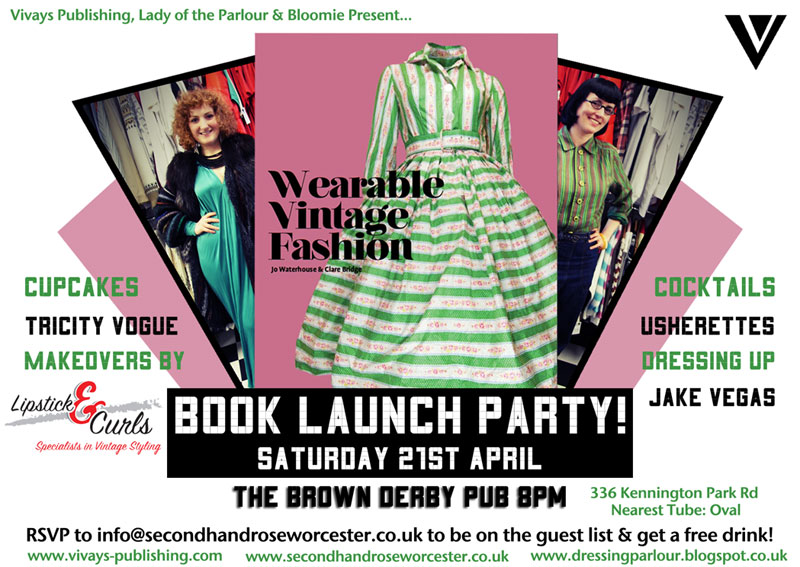Book Launch Party Flyer, Click for Facebook event page