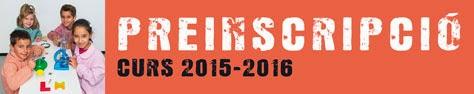 Preinscripció curs 2015-2016