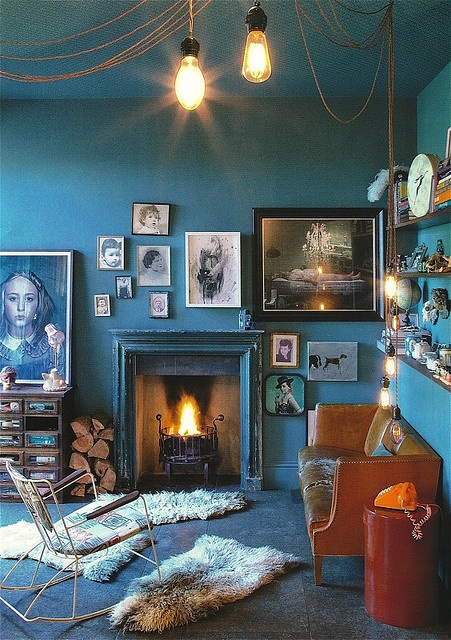 Golden dreamland design trend deep turquoise for Wandfarbe deep