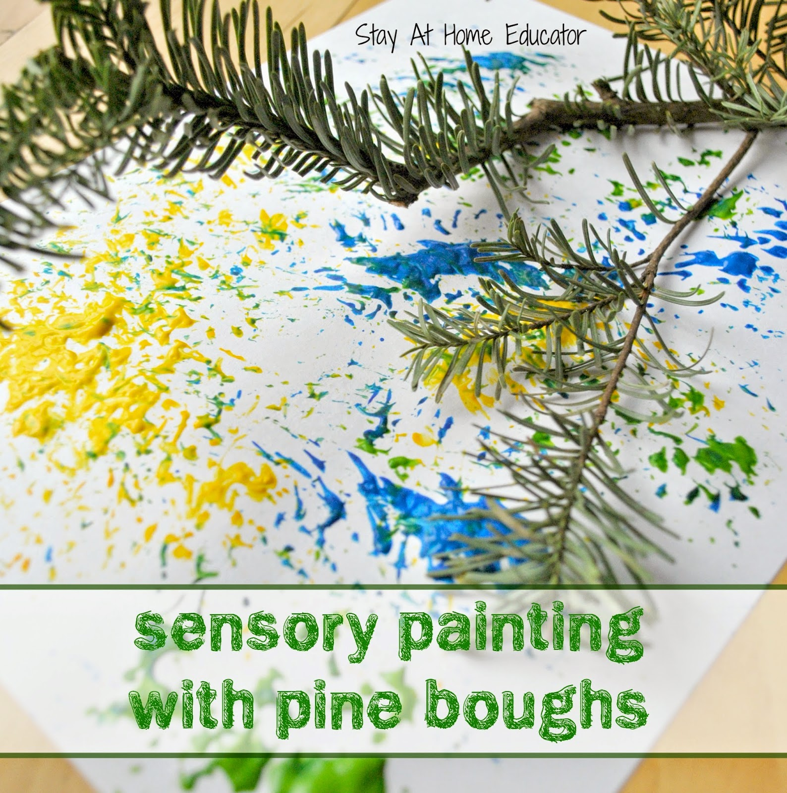 http://stayathomeeducator.com/christmas-sensory-painting-pine-boughs/