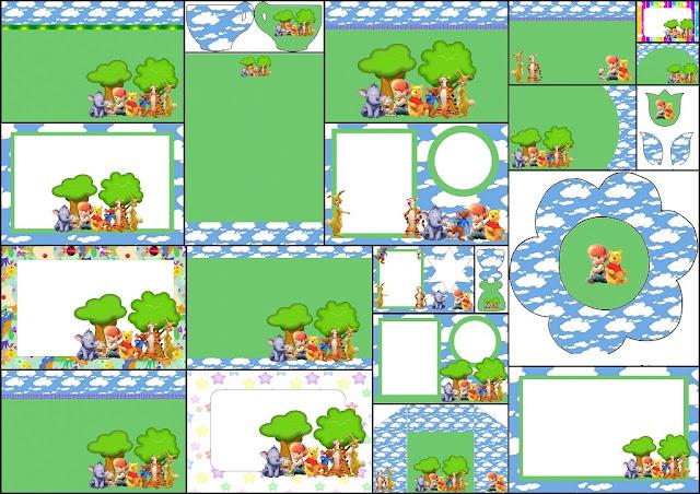 Winnie the Pooh: Free Printable Invitations.