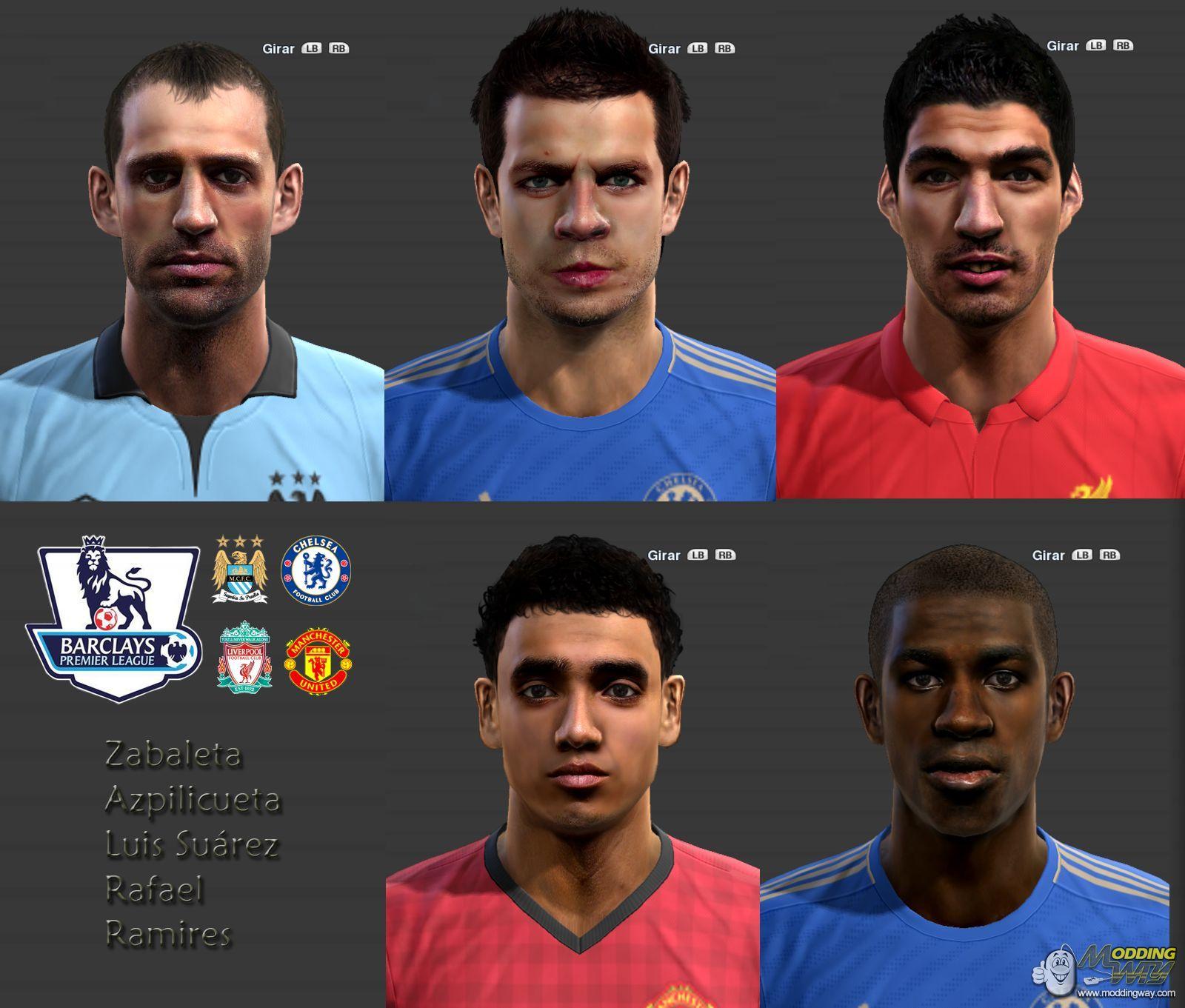 Download Premier League Facepack PES 2013 | Turbobit