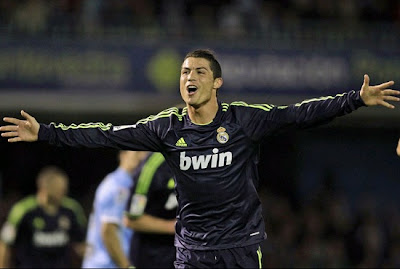 Cristiano Ronaldo celebrates his brace against Celta