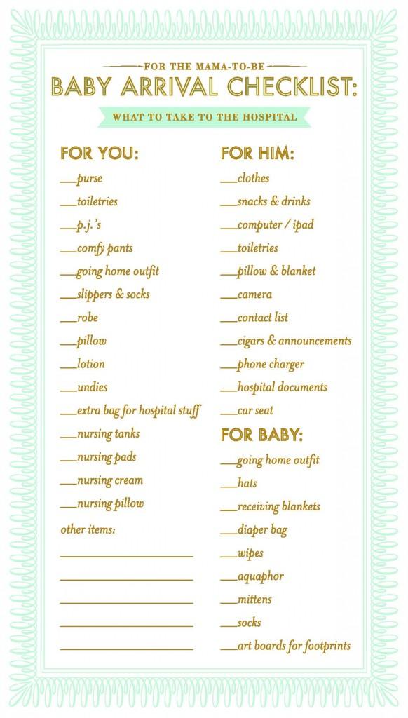 bergen taylor hightower hospital baby checklist