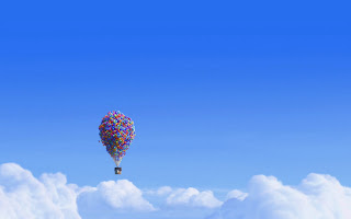 Up Movie Flying House Above Clouds HD Wallpaper