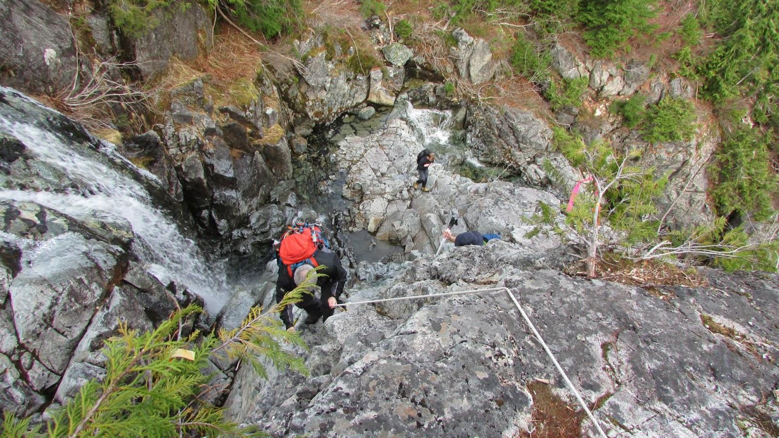 Photograph by Phil Jackson, Rick ascending toward Triple Peak