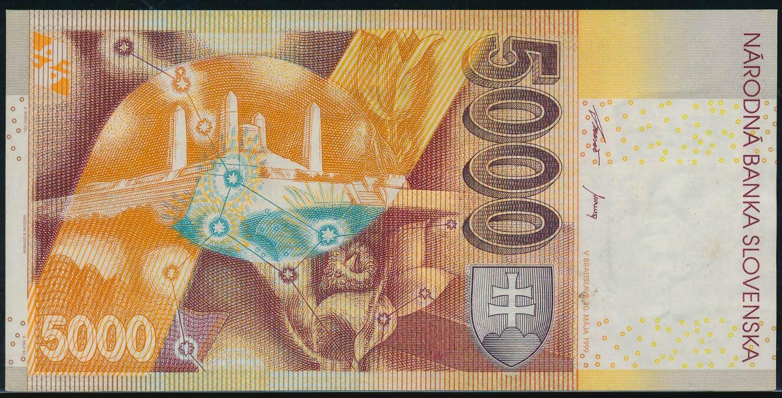 5000 Slovak koruna