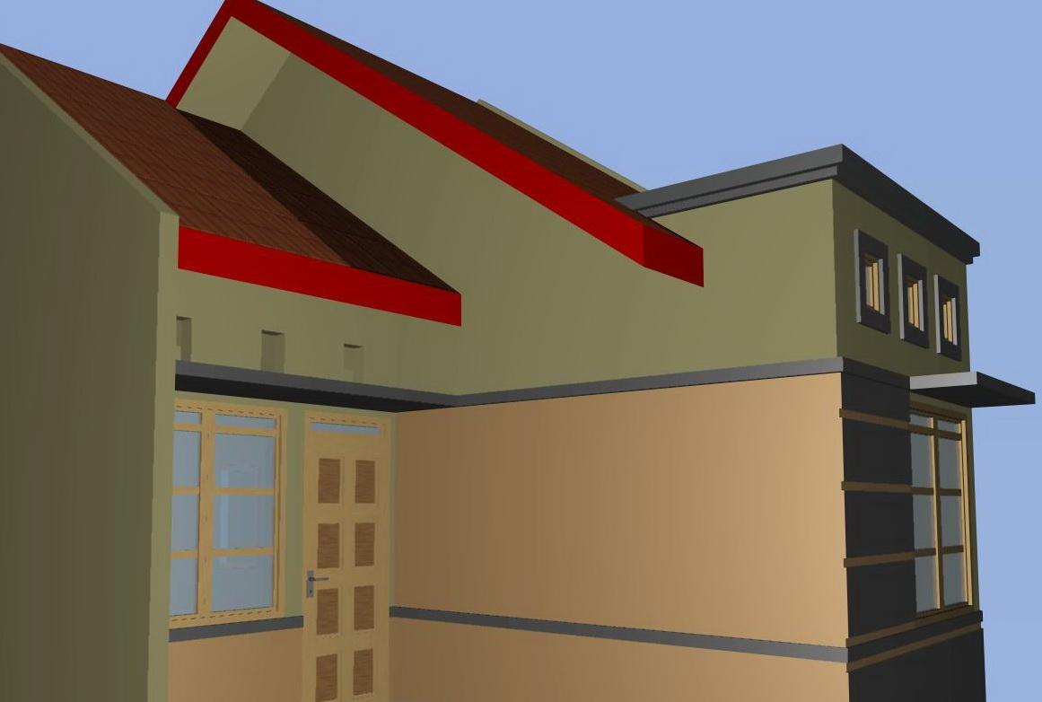Ide untuk Contoh Denah Rumah Minimalis Type 60 Dengan Kamar 3 2015 yg indah