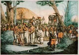 Una variante del Sati, tanto o más terrible, era el enterramiento en vida de las viudas en la misma tumba del marido