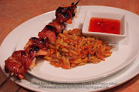 Grilled Bacon Wrapped Shrimp with Hot Red Pepper Jelly - Easy Life Meal & Party Planning