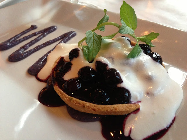 Blueberry Cornmeal Tart