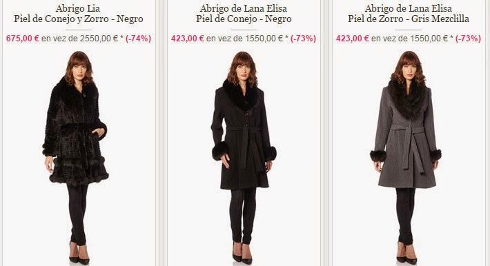 Tres modelos distintos y económicos de abrigos de piel disponibles dentro