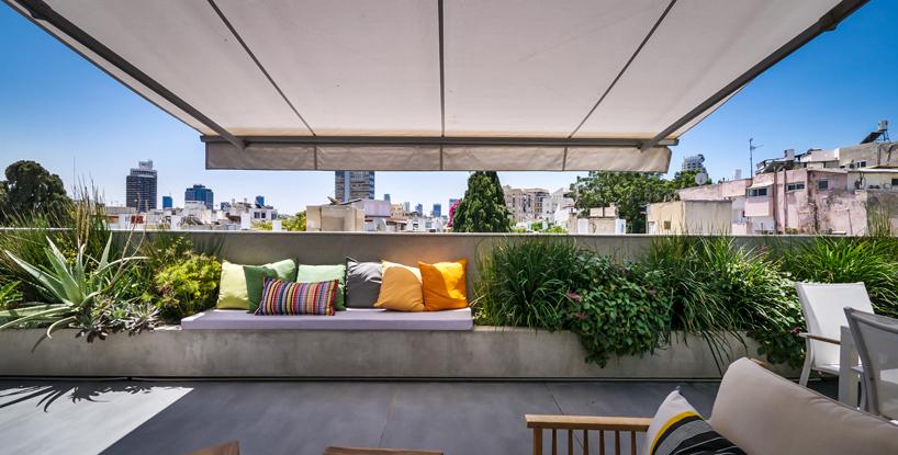 Terrace designed by Hila Hollander