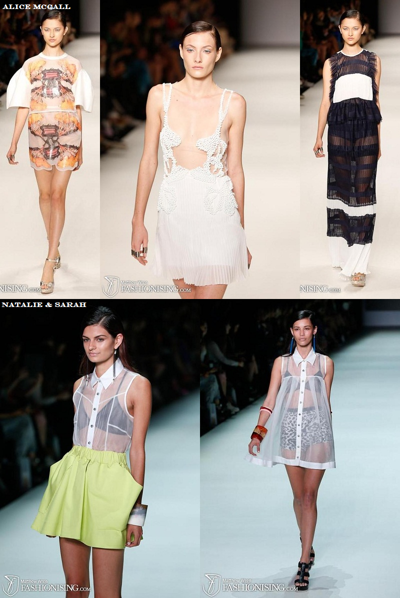 MBFWA, Trends, Sheer, Alice McCall, Natalie & Sarah, New gen, SS 2013/14