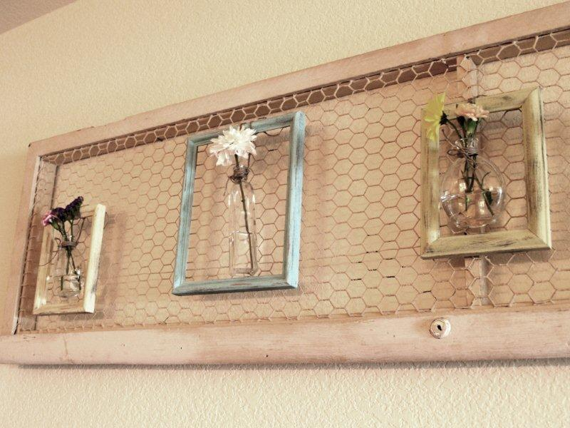 Diy Wire Frame Glasses : Framed Flower Vases - Celebrations at Home