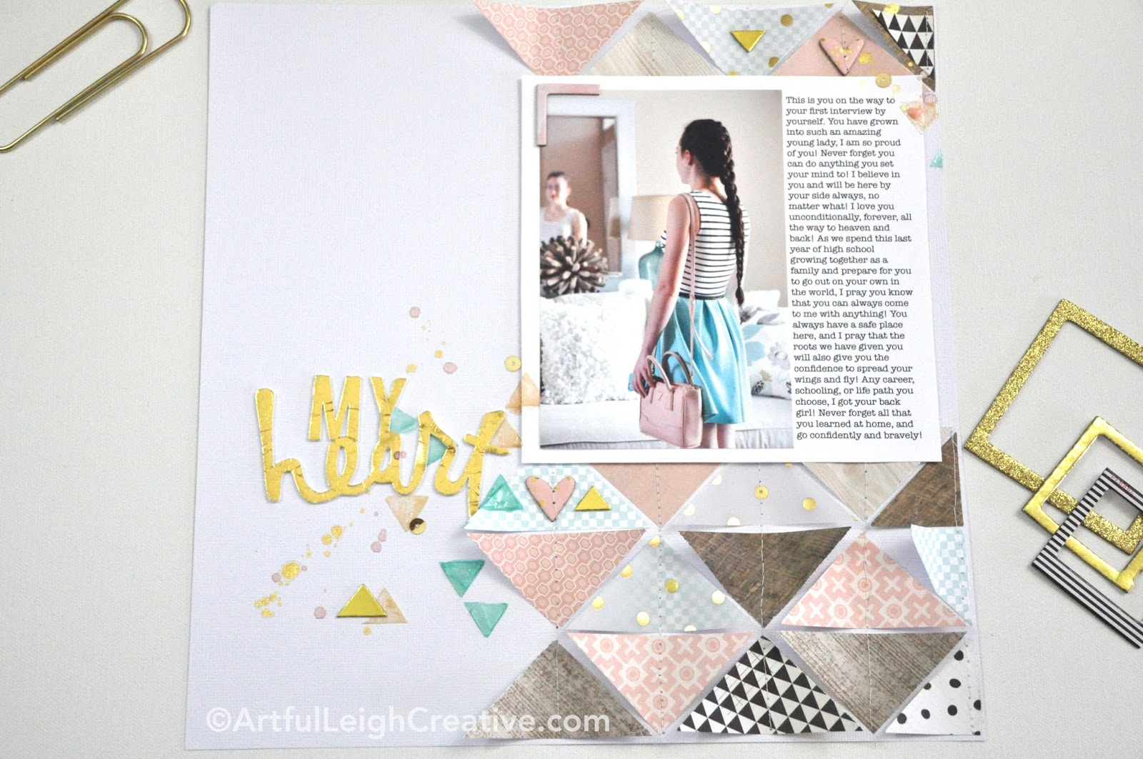 How to design scrapbook using colored paper - All Products From American Crafts Except For Liquitex Heavy Gloss Gel White Card Stock 71259 Diy Shop Gold Dot Vellum 369025 Patterned Paper Crate