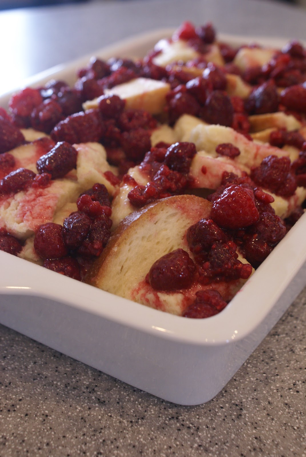 Raspberry Bread Pudding Recipe — Dishmaps