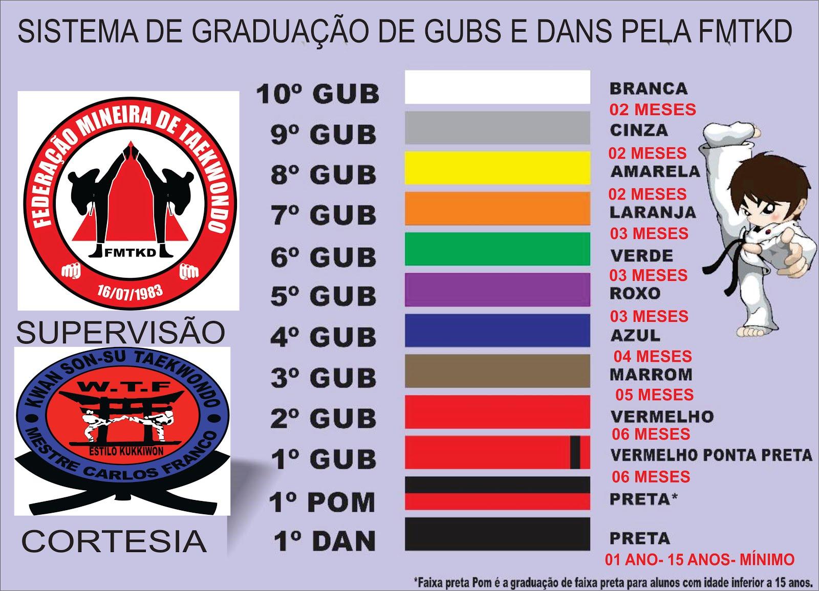SISTEMA DE GUBS OFICIAL PELA FMTKD