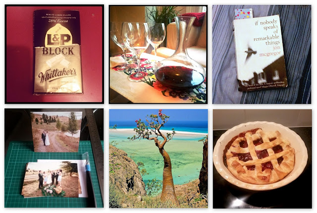 Six ways to fight the autumn blues - chocolate, red wine, reading, looking at photos, travel planning and baking